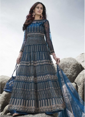Net Embroidered Work Pant Style Designer Salwar Suit