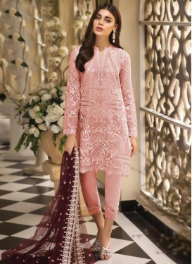 Net Embroidered Work Pant Style Pakistani Salwar Suit