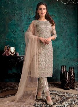 Net Embroidered Work Pant Style Pakistani Salwar Suit
