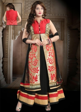 Net Embroidered Work Readymade Classic Gown