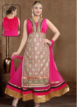 Net Embroidered Work Readymade Designer Gown