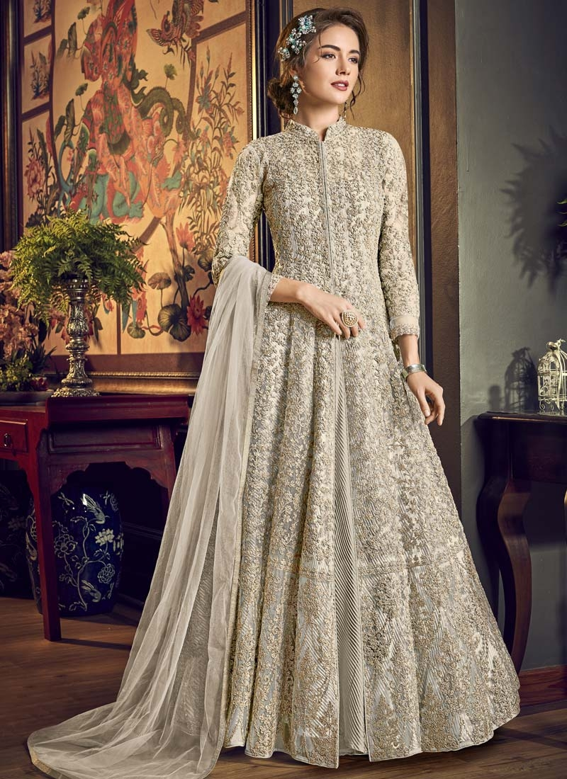 Net Embroidered Work Trendy Designer Salwar Kameez