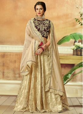 Net Embroidered Work Trendy Lehenga