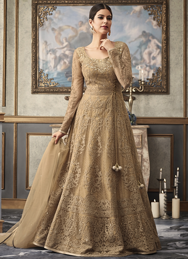 Net Floor Length Anarkali Salwar Suit