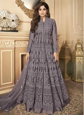 Shamita Shetty Embroidered Work Floor Length Anarkali Salwar Suit