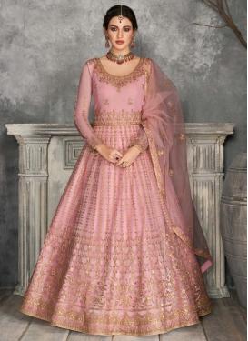 Net Floor Length Anarkali Suit