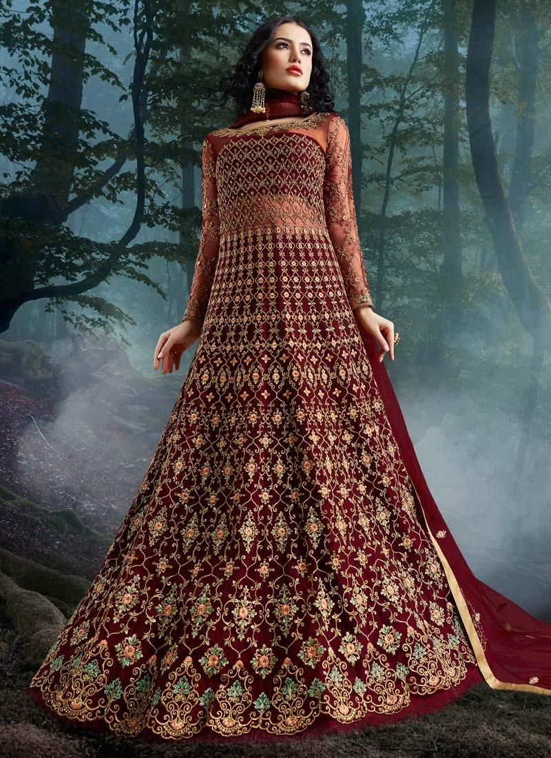 Net Floor Length Designer Salwar Suit