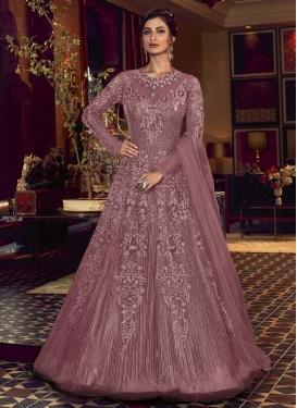 Net Floor Length Designer Suit