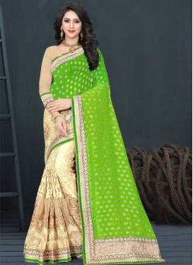 Net Half N Half Trendy Saree