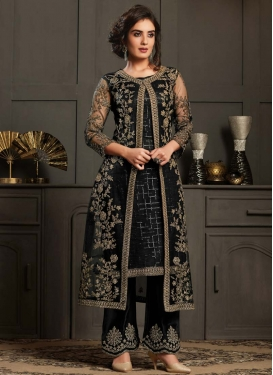 Net Jacket Style Long Length Suit For Ceremonial