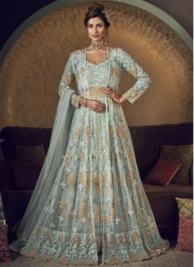 Net Jacket Style Salwar Kameez