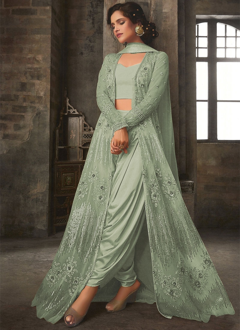 Net Jacket Style Salwar Suit