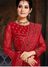 Net Lace Red Lehenga Choli - 1