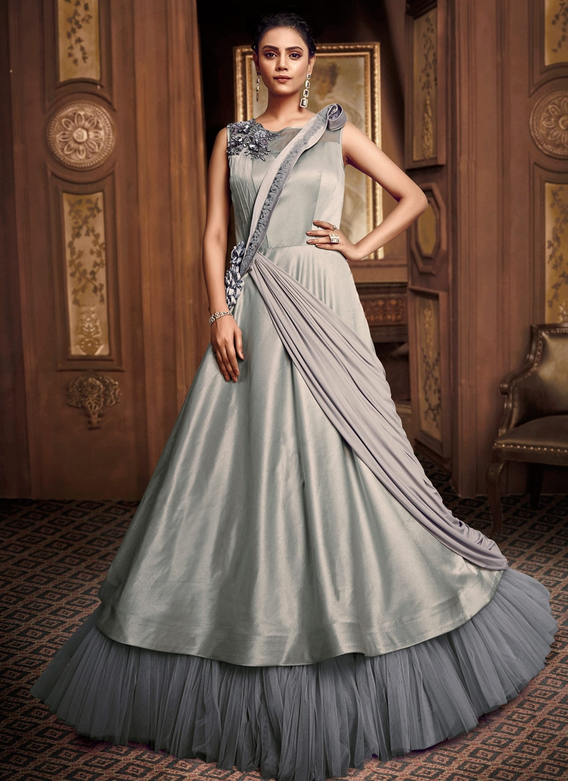 Net Layered Designer Gown For Festival