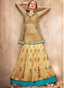 Net Long Choli Lehenga