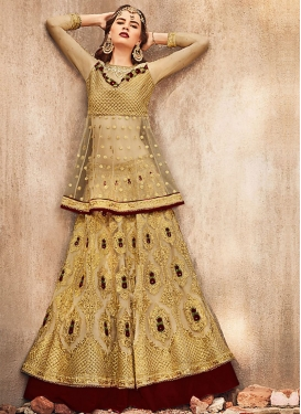Net Long Choli Lehenga For Party