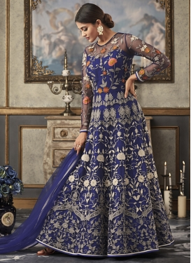 Net Long Length Anarkali Salwar Suit For Festival