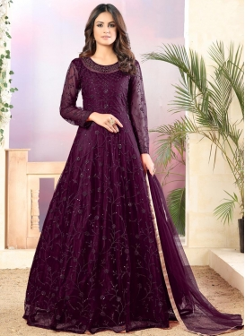 Net Long Length Anarkali Suit