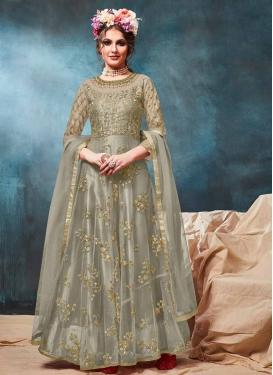 Net Long Length Anarkali Suit For Ceremonial