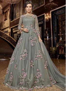 Net Long Length Designer Anarkali Suit