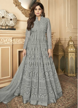 Shamita Shetty Net Long Length Designer Anarkali Suit