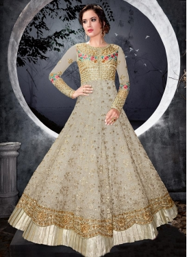 Net Long Length Designer Anarkali Suit For Festival