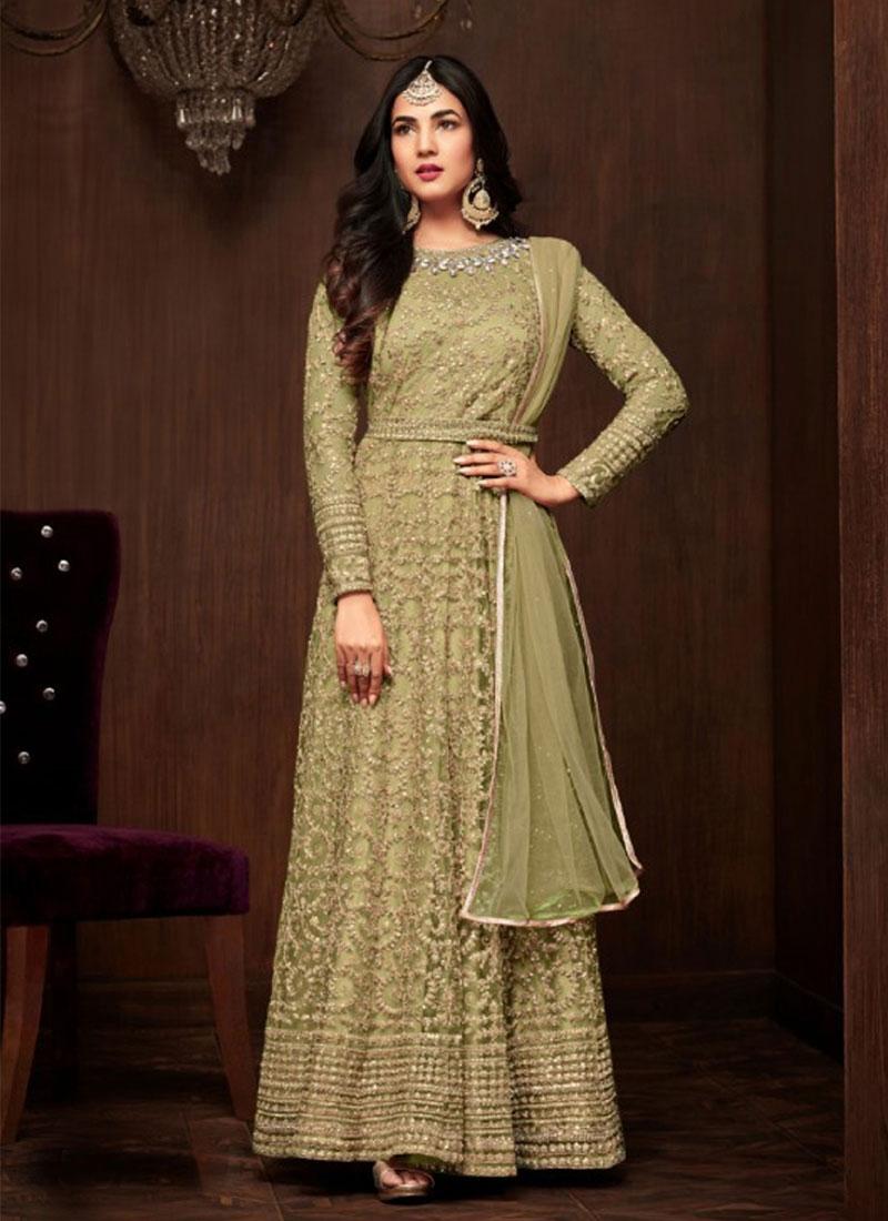 Net Long Length Designer Anarkali Suit For Festival