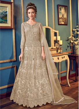 Net Long Length Designer Anarkali Suit For Party