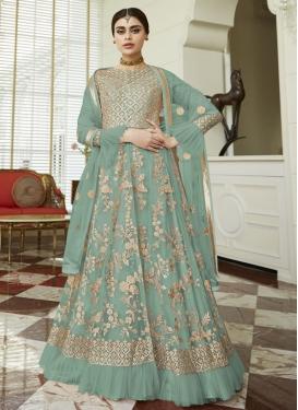 Net Long Length Designer Suit For Ceremonial