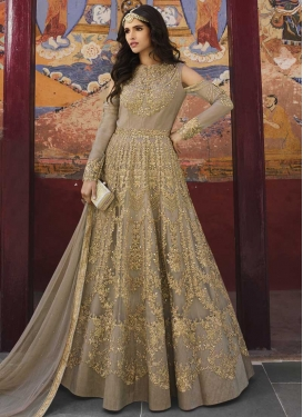 Net Long Length Designer Suit For Party