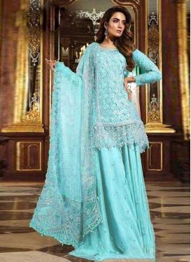 Net Palazzo Style Pakistani Salwar Suit