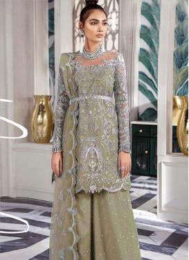 Net Palazzo Style Pakistani Salwar Suit For Ceremonial