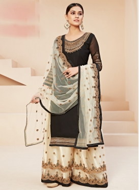 Net Palazzo Style Pakistani Salwar Suit For Ceremonial