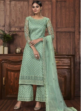 Net Palazzo Style Pakistani Salwar Suit For Festival