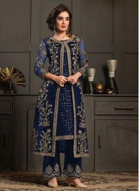 Net Palazzo Style Pakistani Salwar Suit For Festival