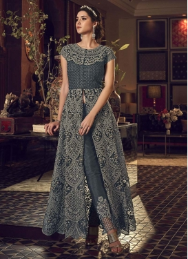 Net Pant Style Classic Salwar Suit For Festival