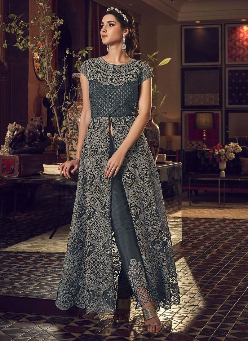 Net Pant Style Classic Salwar Suit For Festival