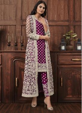 Net Pant Style Pakistani Salwar Kameez