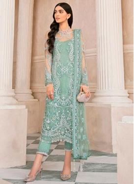 Net Pant Style Pakistani Salwar Suit
