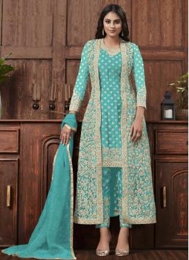 Net Pant Style Pakistani Suit