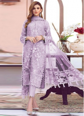 Net Pant Style Salwar Kameez