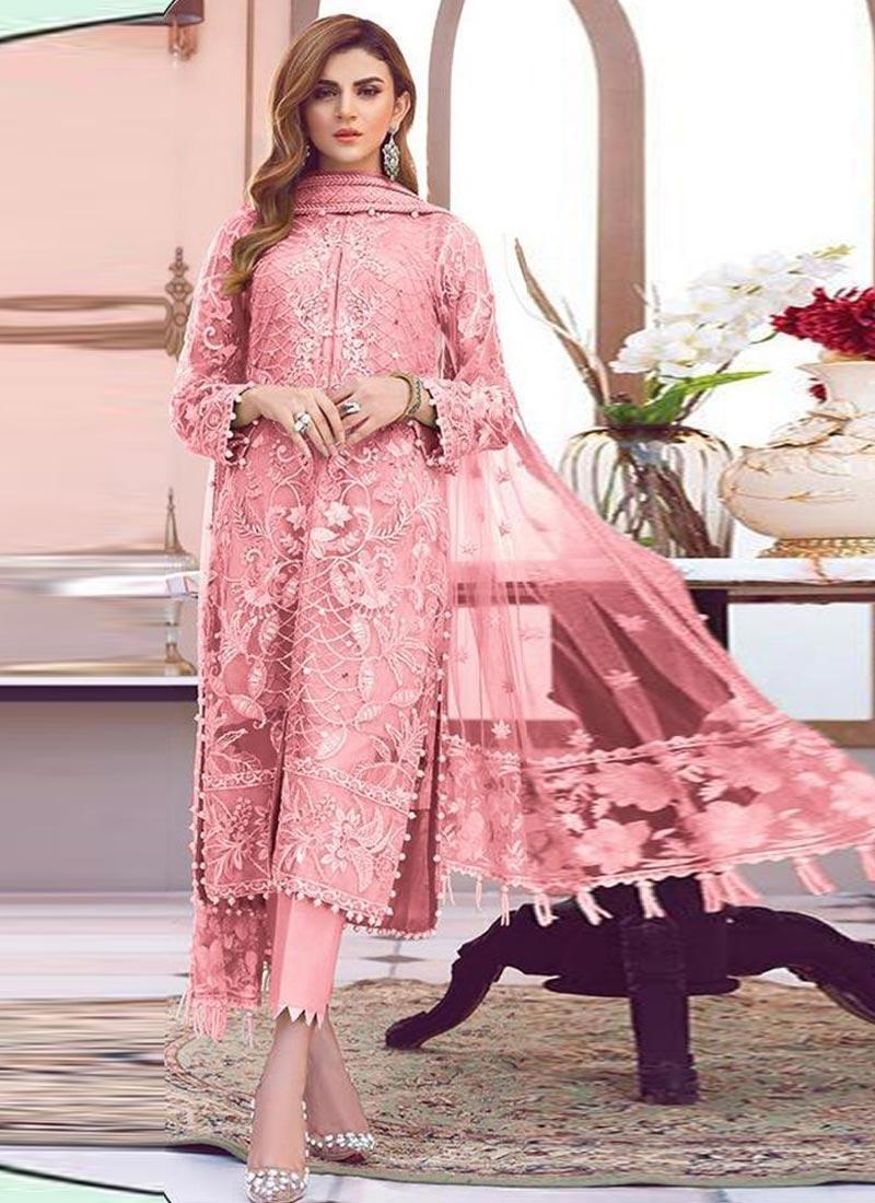 Net Pant Style Salwar Kameez For Festival