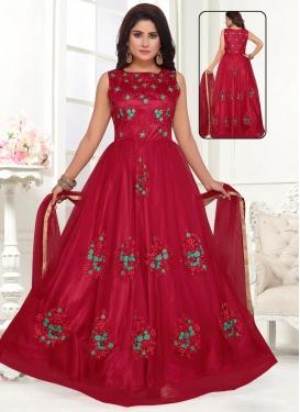 Net Readymade Anarkali Salwar Suit