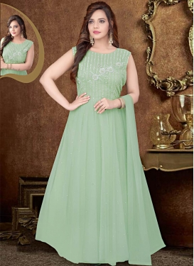 Net Readymade Anarkali Salwar Suit For Festival