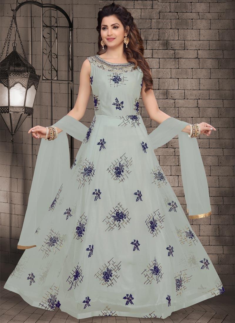 Net Readymade Anarkali Suit