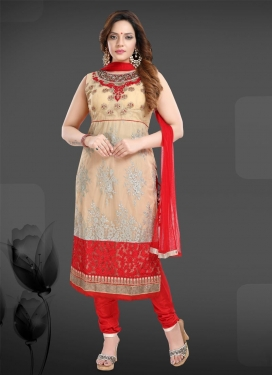 Net Readymade Churidar Salwar Suit