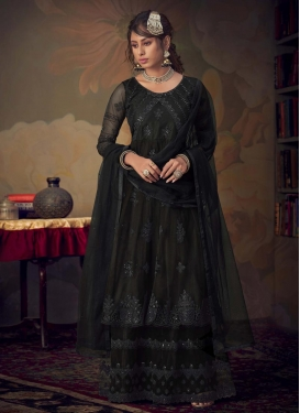 Net Sharara Salwar Kameez For Festival