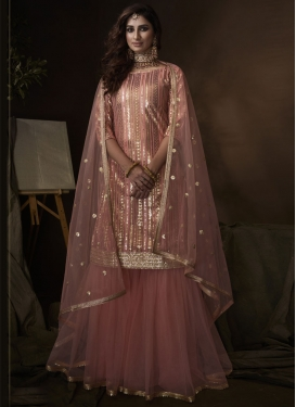Net Sharara Salwar Kameez For Party