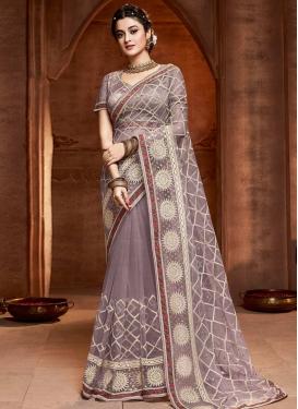 Net Traditional Designer Saree For Ceremonial