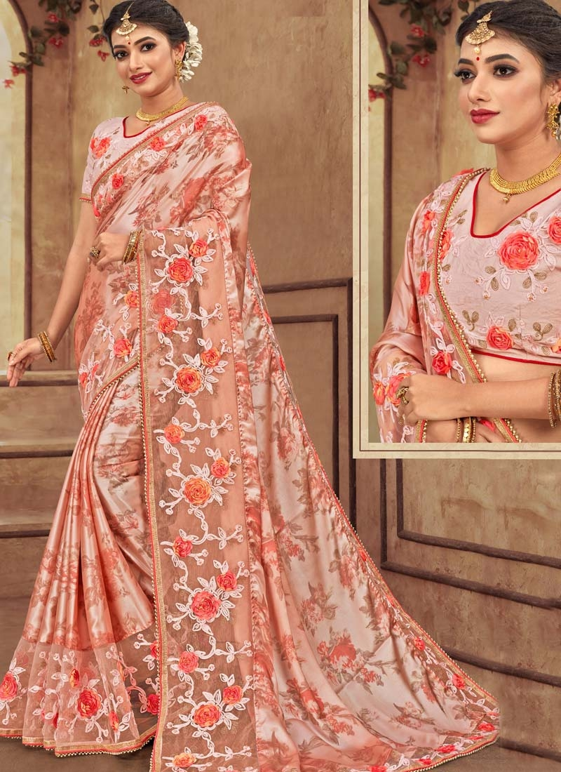 Net Traditional Designer Saree For Festival